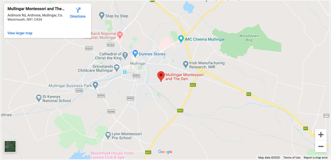Montessori-School-in-Mullingar-Westmeath-Map